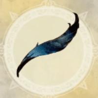 黒曜鳥の尾羽
