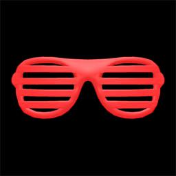 ブラインドサングラス赤赤