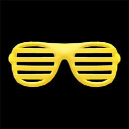 ブラインドサングラス黄黄