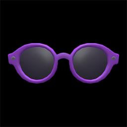 ボストンめがね紫黒