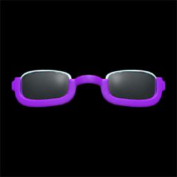 アンダーリムめがね紫紫