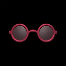 ちいさいサングラス赤黒