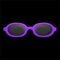 オーバルめがね紫紫