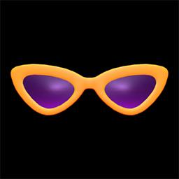 さんかくサングラスオレンジ紫