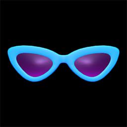 さんかくサングラス水紫