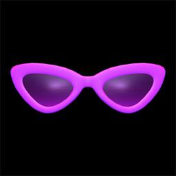 さんかくサングラス紫紫