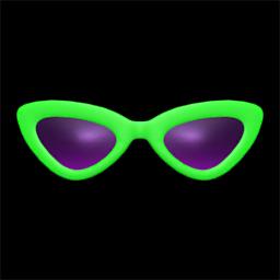 さんかくサングラス緑紫