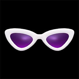 さんかくサングラス白紫