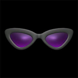 さんかくサングラス黒紫