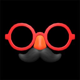 ヒゲメガネ赤黒