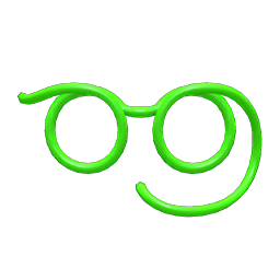 ストローメガネ緑緑