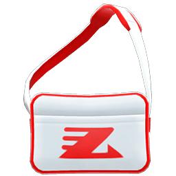 スポーツバッグ白赤
