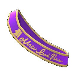 プロムなたすき紫黄