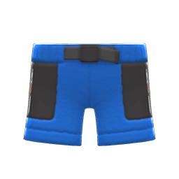 ボアハーフパンツ青黒