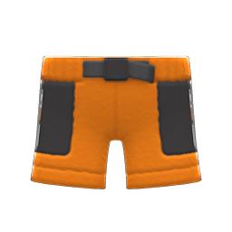 ボアハーフパンツオレンジ黒