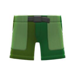 マルチカラーのハーフパンツ緑緑