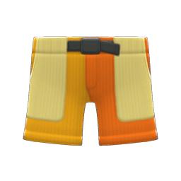 マルチカラーのハーフパンツオレンジ黄
