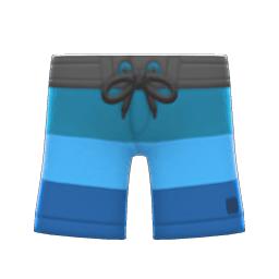 サーフパンツ水青