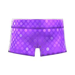 スパンコールのホットパンツ紫紫