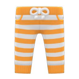 ボーダーパンツオレンジ白