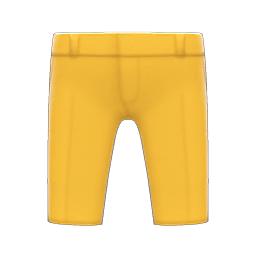 クロップドパンツ黄黄