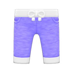 フィットネススウェットパンツ紫白