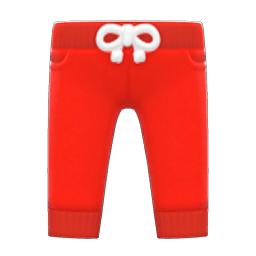 スウェットパンツ赤赤