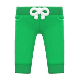 スウェットパンツ緑緑