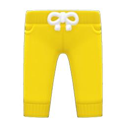 スウェットパンツ黄黄