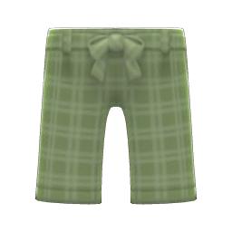 ガウチョパンツ緑緑