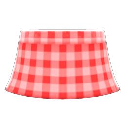 ギンガムチェックのスカート赤赤