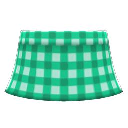 ギンガムチェックのスカート緑緑