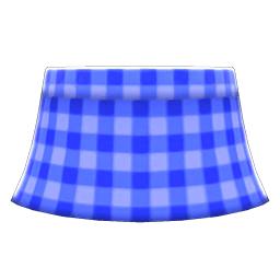 ギンガムチェックのスカート青青