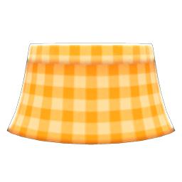 ギンガムチェックのスカートオレンジオレンジ