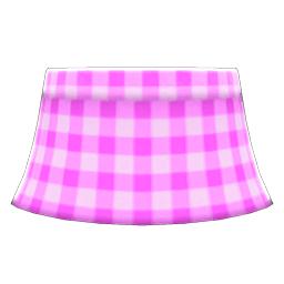 ギンガムチェックのスカートピンクピンク