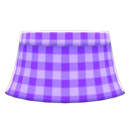 ギンガムチェックのスカート紫紫