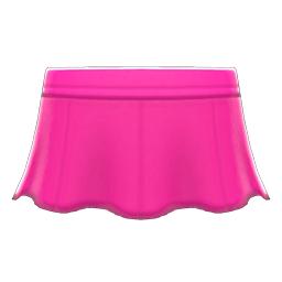 レザーのフレアスカートピンクピンク
