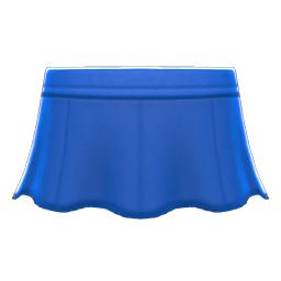 レザーのフレアスカート青青
