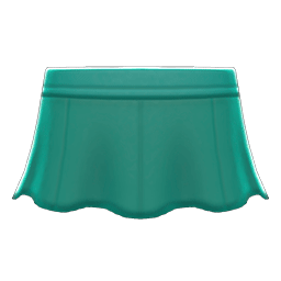 レザーのフレアスカート緑緑