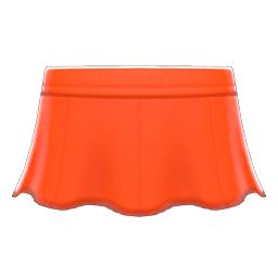 レザーのフレアスカートオレンジオレンジ