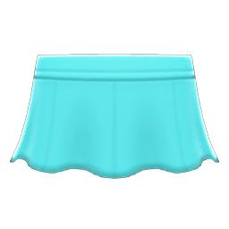 レザーのフレアスカート水水