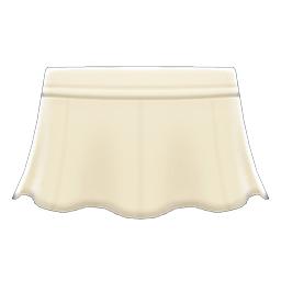 レザーのフレアスカート白白