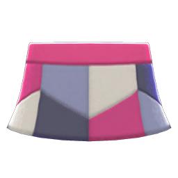 レザーパッチスカート紫グレー