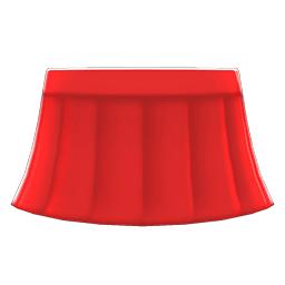 セーラーふくのスカート赤赤