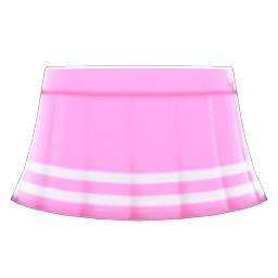 テニススカートピンク白