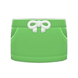 スウェットスカート緑緑