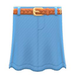 ロングデニムスカート水茶