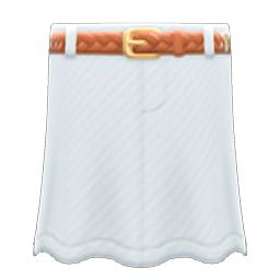 ロングデニムスカート白茶