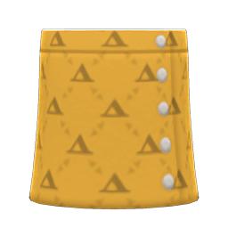 ケイトのスカート黄黄