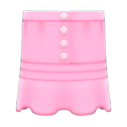 まえボタンレースのスカートピンクピンク